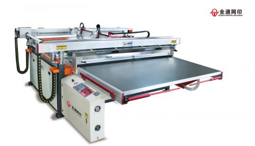 四柱跑台平面丝网印刷机