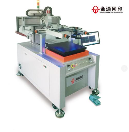 穿梭式带视觉CCD高精密立式丝印机